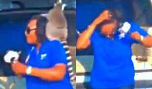 Lémur le quitó peluca a reportera durante trasmisión en vivo