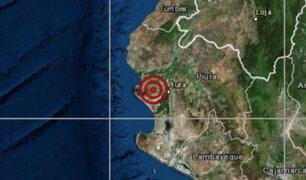 Sismo de magnitud 4.2 se registró esta mañana en Piura