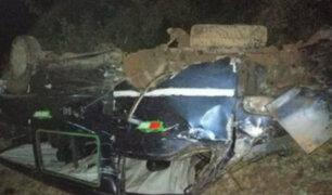 Áncash: al menos tres muertos y seis heridos deja despiste de miniván