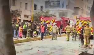 La Victoria: más de diez heridos tras explosión de balón de gas en restaurante