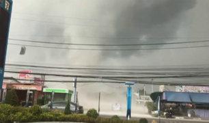 Paso de tornado deja múltiples daños en Tailandia