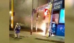 La Victoria: denuncian que es la segunda vez que queman kiosko de periódicos