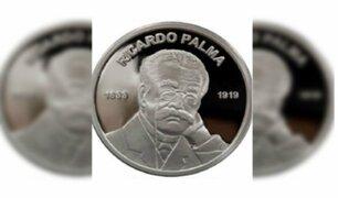 BCR pone en circulación moneda alusiva a centenario del fallecimiento de Ricardo Palma