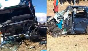 Padre e hija fallecen en aparatoso accidente de tránsito en Puno
