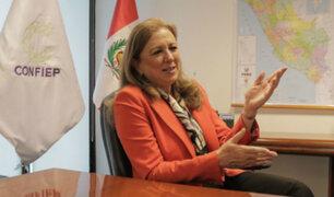 Presidenta de la Confiep señaló que el TC debe resolver sobre la disolución del Congreso