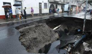 Guatemala inmersa en el caos ante fuertes lluvias