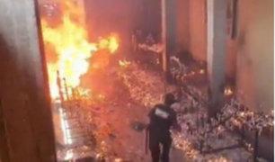 Áncash: feligreses salvan de morir tras incendio en parroquia