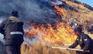Incendio forestal arrasa gran cantidad de pastizales en el Cusco
