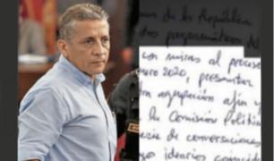 Carta exclusiva: Antauro Humala pretende participar en vida política del país