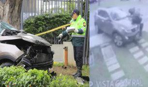 San Isidro: dos fallecidos y tres heridos deja brutal choque de camioneta en Av. Javier Prado
