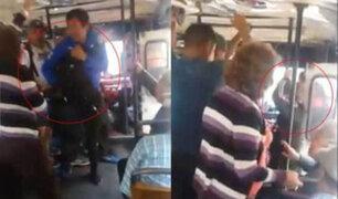 Ate: cobradora extranjera de bus maltrata a anciana y golpea a otra