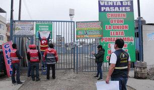 Sutran cierra terminales de buses interprovinciales en Lima Norte y La Victoria
