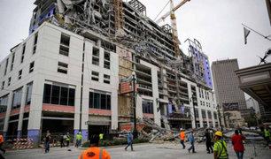 Un muerto deja derrumbe de hotel en construcción en Estados Unidos