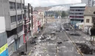 Ecuador: Quito amaneció devastada por protestas