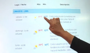 Senamhi: esta semana Lima alcanzará temperaturas de hasta 22°