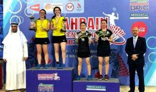 Daniela Macías y Dánica Nishimura ganaron oro en torneo de Bádminton en Asia