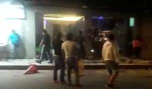 Iquitos: batalla campal se desata afuera de discoteca