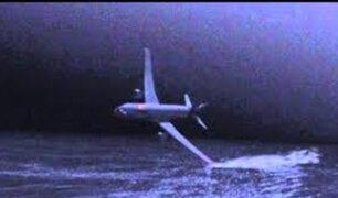 Se vio por Panamericana: los primeros restos del avión de AeroPerú tras estrellarse en el mar en 1996