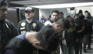 """""""Los bravos de San Juan"""": capturan a 12 presuntos integrantes de banda criminal"""