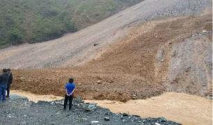 Ayacucho: vía Chalhuamayo - San Francisco interrumpida tras deslizamiento de tierra