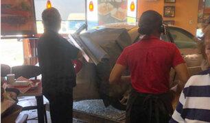 Marruecos: nueve heridos dejó auto que impactó contra restaurante