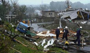 Casi 60 muertos deja el paso del tifón Hagibis en Japón