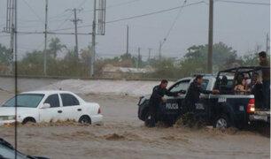 México: una persona fallecida dejan inundaciones en Baja California