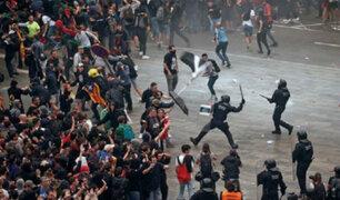 España: violentas manifestaciones tras sentencias contra líderes independentistas