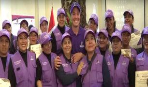"""La Victoria: presentan """"escuadrón violeta"""" integrado por mujeres"""