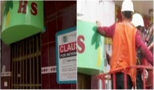 SMP: clausuran más de 80 hostales que funcionaban de manera ilegal