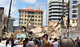 Brasil: colapsa un edificio residencial de siete pisos