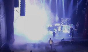 VIDEO: se incendia escenario durante concierto de Diego Torres