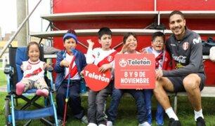 Así fue la emotiva visita de los niños de la Teletón a la Selección Peruana