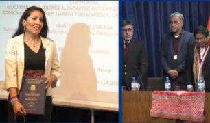 Mujer obtiene doctorado tras sustentar tesis en idioma quechua en la UNMSM