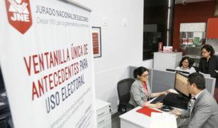 JNE: partidos políticos podrán evaluar antecedentes de candidatos