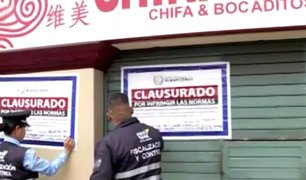 Miraflores: cierran emblemático chifa frente al parque Kennedy por insalubre
