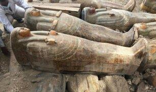 Egipto: el sorprendente hallazgo de 20 sarcófagos en perfecto estado