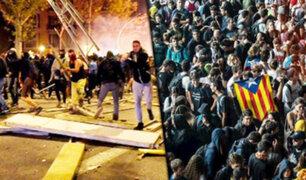 España: se registra tercer día de protestas en Cataluña