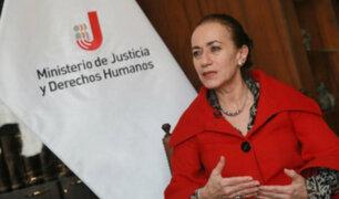 Ministra Revilla a favor de eliminar la inmunidad parlamentaria