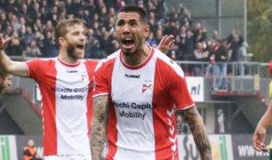 Sergio Peña anotó golazo en victoria del FC Emmen