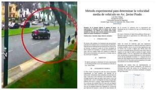 Accidente en Javier Prado: estudiante de UNI determinó a qué velocidad iba Gonzalez Gagliuffi