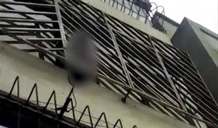 La Victoria: rescatan a niña encerrada con llave en tercer piso de vivienda