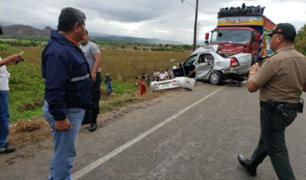 Amazonas: al menos cuatro muertos deja choque entre automóvil y tráiler