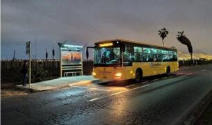 Metropolitano: instalan paraderos iluminados con energía solar