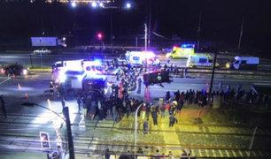 Chile: automóvil atropella a un grupo de manifestantes y deja dos muertos