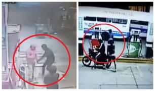 Delincuentes armados asaltan grifos en Surquillo y Ate