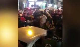 Chiclayo: comerciantes se agarraran a golpes tras operativo