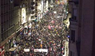 Uruguay: miles marchan en rechazo a intervención de militares en calles