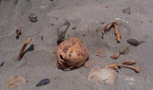 La Libertad: hallan restos óseos cerca de playa El Milagro