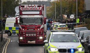 Inglaterra: los 39 muertos hallados dentro de un camión eran ciudadanos chinos